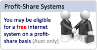 FREE Internet cafe systems for eligible sites on a hosted profit share basis