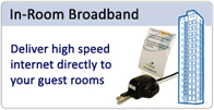 Guest in-room internet access systems