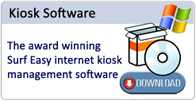 Internet kiosk management software